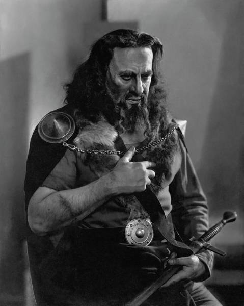 Hackett Photograph - James K. Hackett As Macbeth by Edward Steichen
