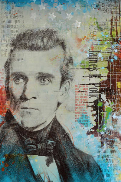Stump Painting - James K. Polk by Corporate Art Task Force