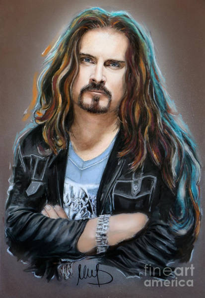 Wall Art - Mixed Media - James Labrie by Melanie D