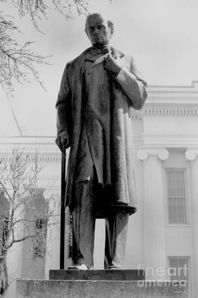 Photograph - James M Sims State Capitol Bw by Lesa Fine