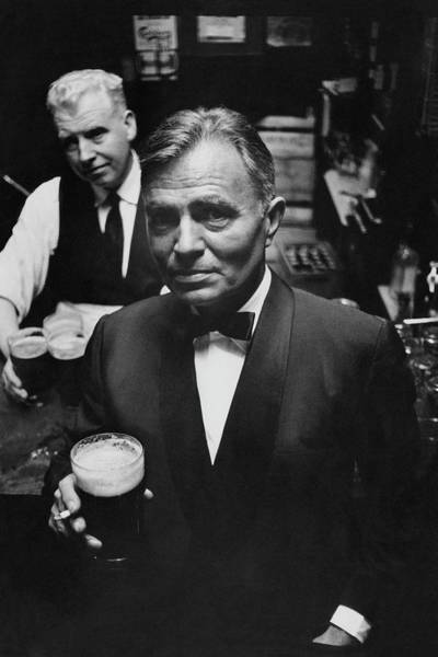 Alcoholic Drink Photograph - James Mason At A Pub In Dublin by Richard Richards