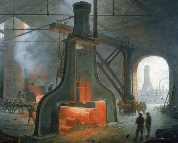 Wall Art - Painting - James Nasmyth's Steam Hammer by James Nasmyth