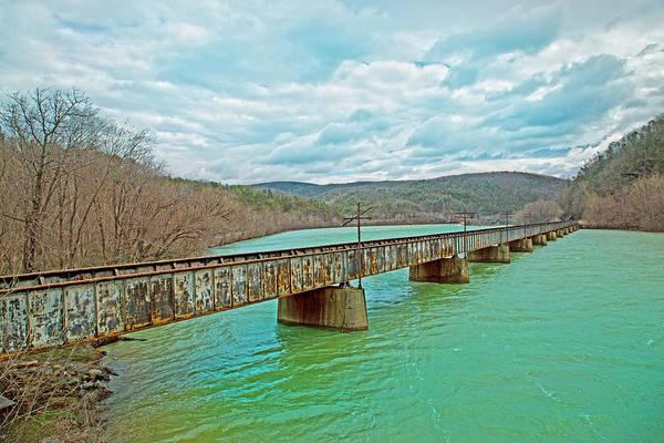 Railroad Bridge Photograph - James River Railroad Crossing by Betsy Knapp
