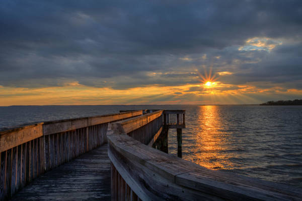 Photograph - James River Sunset Riverview Pier by Jerry Gammon