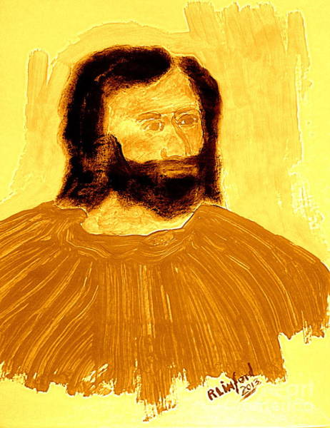 Follow Me Painting - James The Apostle Son Of Zebedee 2 by Ricardo Richard W Linford