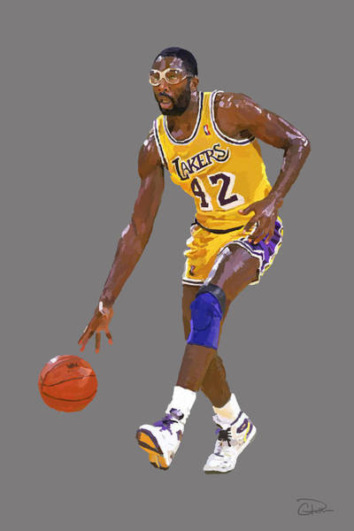 56be3ab55 James Worthy Wall Art - Digital Art - James Worthy by Charley Pallos