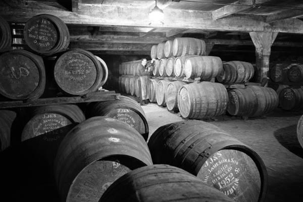 Irish Whiskey Photograph - Jameson Whiskey Barrels 1963 by Irish Photo Archive