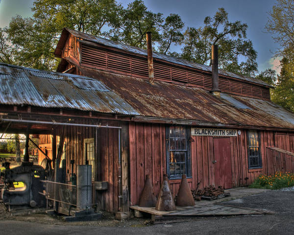 Photograph - Jamestown Blacksmith Shop by William Havle