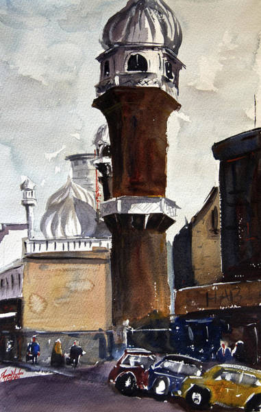 Mosque Painting - Jamia Mosque In Nairobi by James Nyika