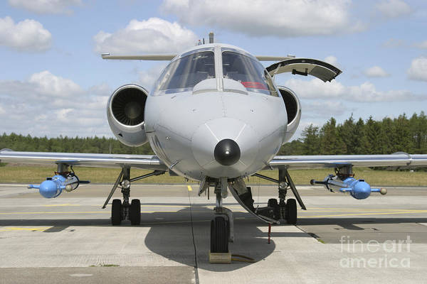 Airbase Photograph - Jamming Pods On A Learjet, Hohn Air by Timm Ziegenthaler