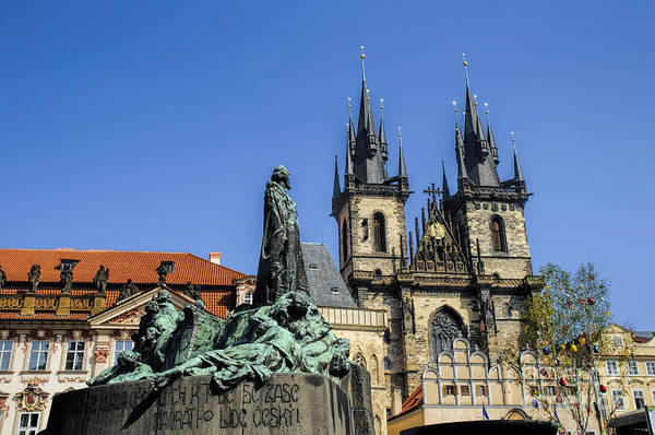 Photograph - Jan Hus And Church Of Our Lady Before Tyn by Brenda Kean