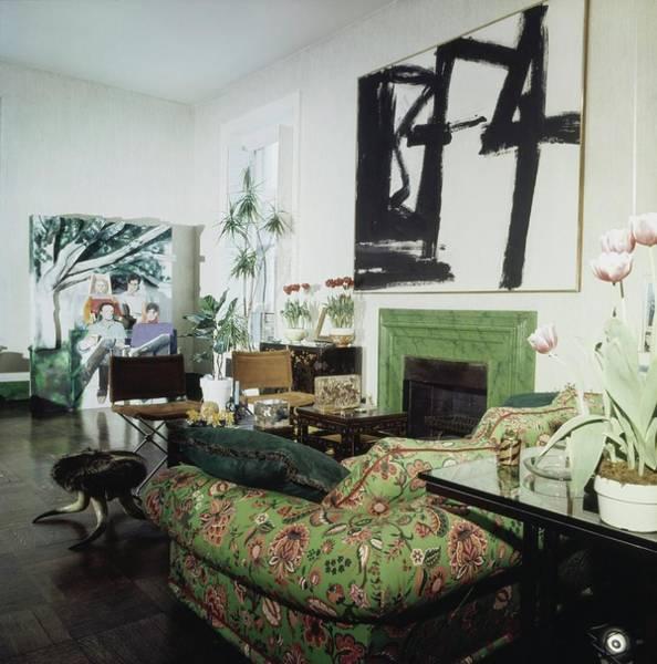 Modernist Photograph - Jane Holzer's Living Room by Horst P. Horst