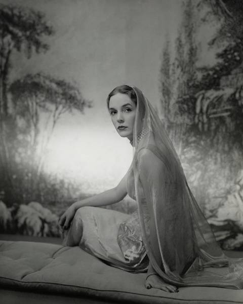 Photograph - Janet Newbold Wearing A Sari by John Rawlings