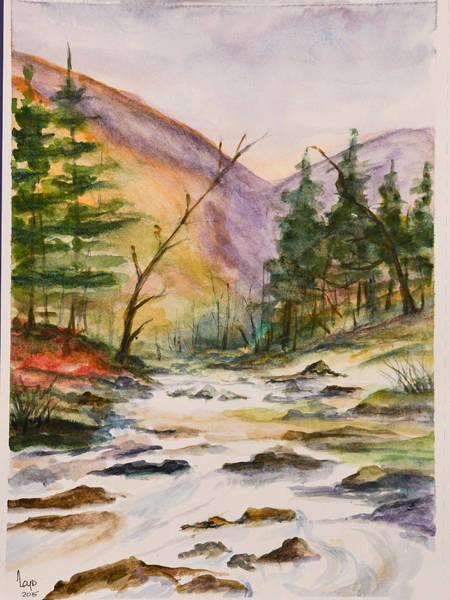 Wall Art - Painting - Janet's Stream by Ann Loyd