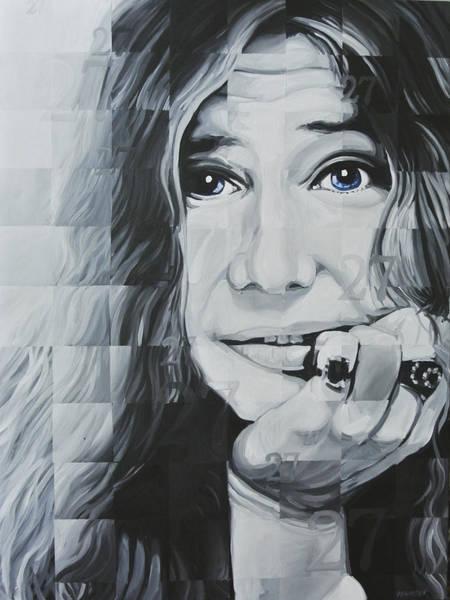 Rockstar Painting - Janis 27 by Steve Hunter