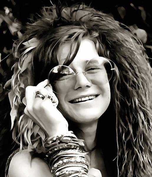1960s Digital Art - Janis by Dan Sproul