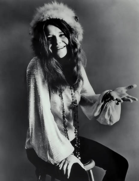 Mercedes Photograph - Janis Joplin by Daniel Hagerman