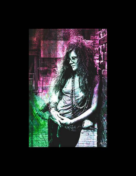 Wall Art - Digital Art - Janis Joplin - Pink by Absinthe Art By Michelle LeAnn Scott