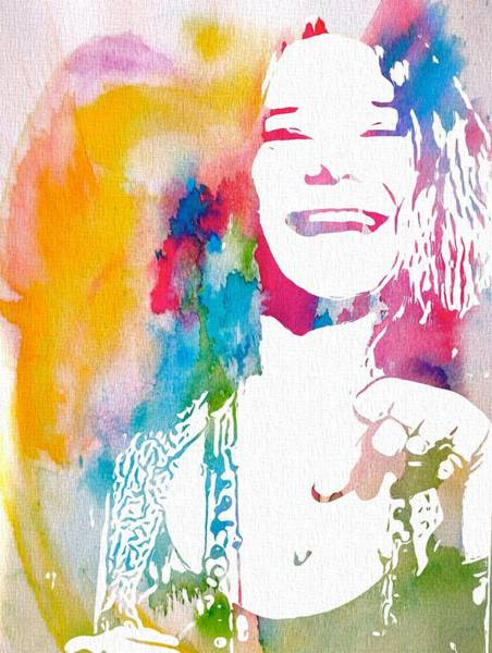 1960s Digital Art - Janis Joplin Watercolor by Dan Sproul