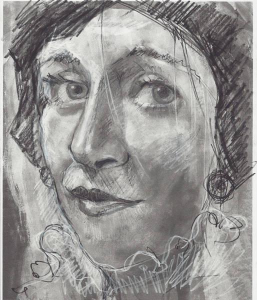 Drawing - Janna by Maxim Komissarchik