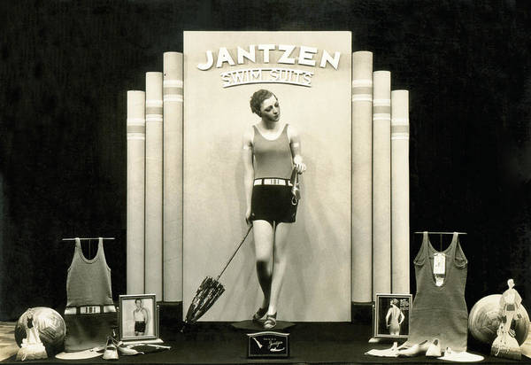 Wall Art - Photograph - Jantzen Swim Suit Display by Underwood Archives