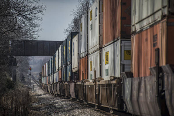 Subdivision Photograph - January 20. 2015 - Csx Q029 Heads South At Monarch by Jim Pearson
