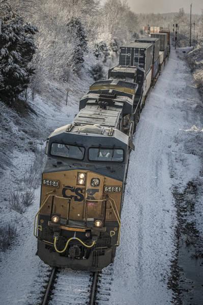 Subdivision Photograph - January 24. 2015 - Csx Q028 by Jim Pearson