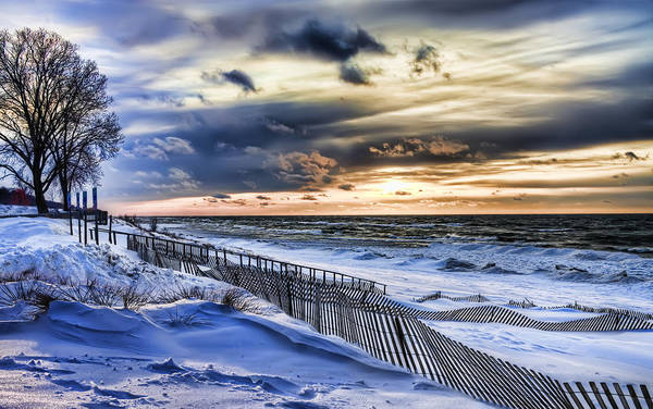 Photograph - January On Lake Michigan by Evie Carrier
