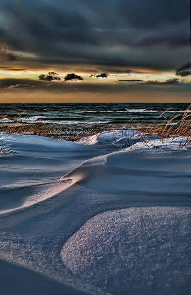 January Saugatuck Blues Michigan Art Print