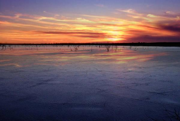 Photograph - January Sunset At El Dorado Lake by Rod Seel