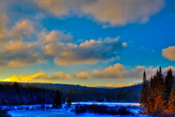 Photograph - January Sunset On The Moose River by David Patterson
