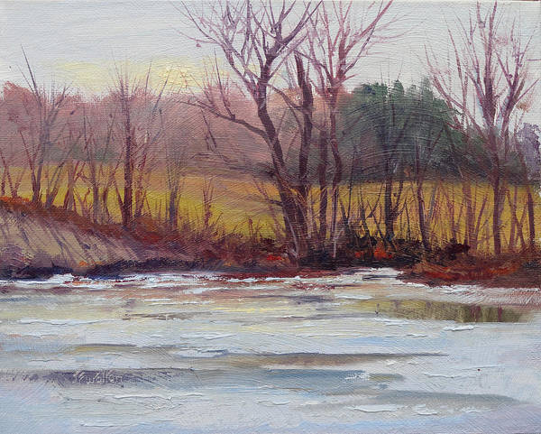 Painting - January Thaw by Judy Fischer Walton