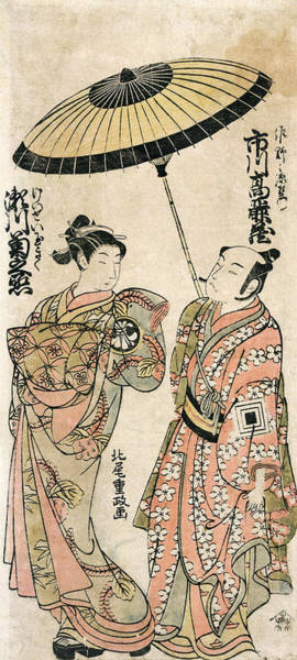 Wall Art - Painting - Japan Actors, C1770 by Granger