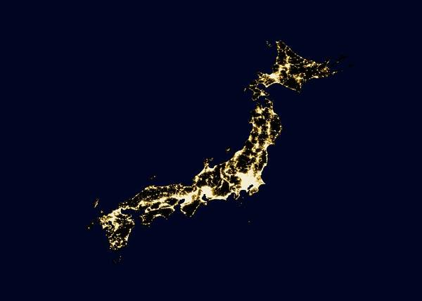First Light Wall Art - Photograph - Japan At Night by Noaa/science Photo Library