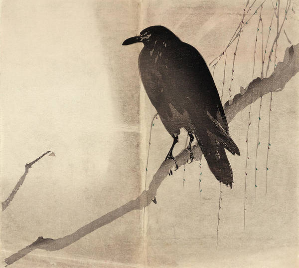 Wall Art - Painting - Japan Crow by Granger
