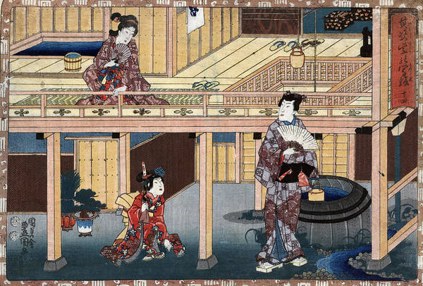Wall Art - Painting - Japan House, C1848 by Granger