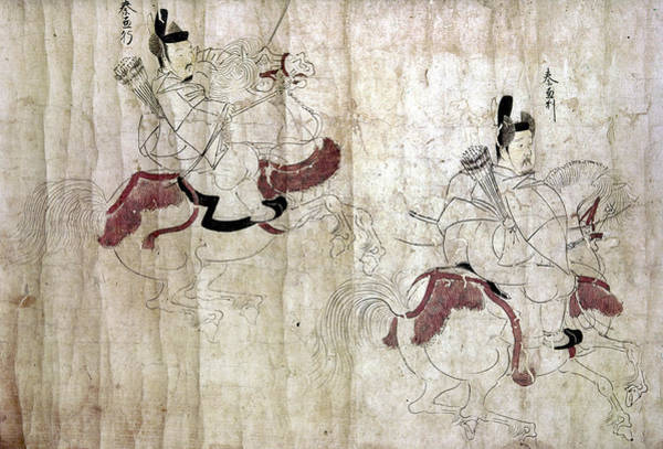 Feudal Japan Wall Art - Painting - Japan Imperial Bodyguards by Granger