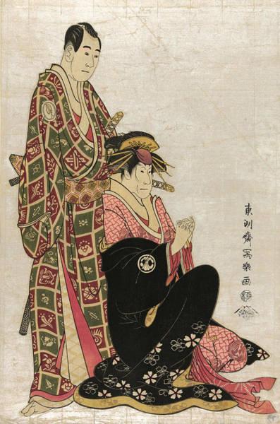Kabuki Painting - Japan Kabuki Actors, 1794 by Granger