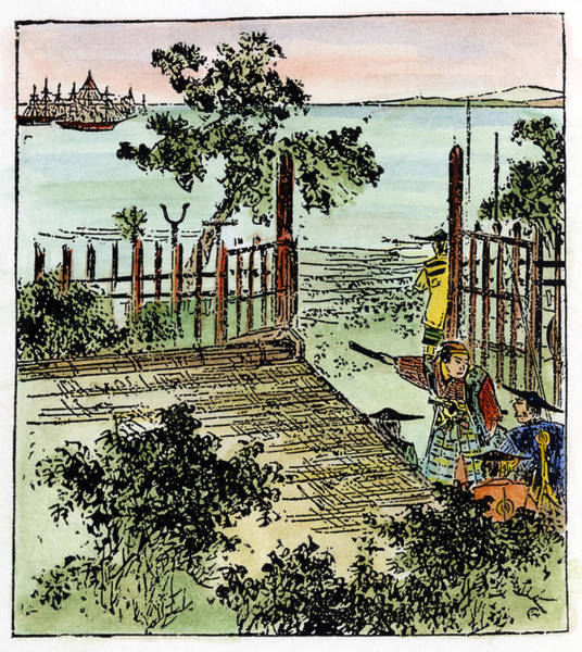 Wall Art - Drawing - Japan Matthew Perry, 1853 by Granger