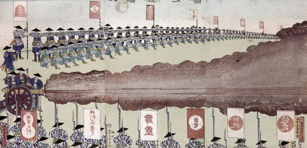Feudal Japan Wall Art - Painting - Japan Military Training by Granger