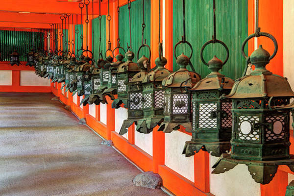 Nara Wall Art - Photograph - Japan, Nara Hanging Lanterns At Kasuga by Jaynes Gallery