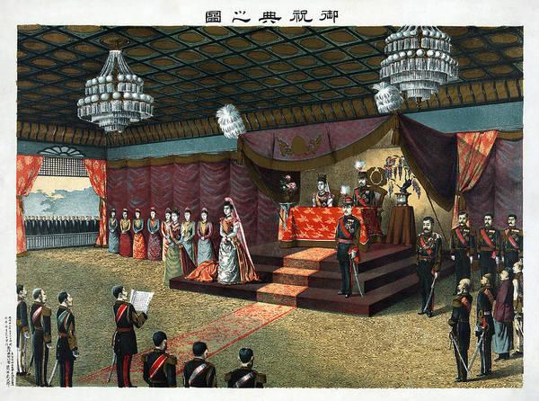 Emperor Of Japan Wall Art - Painting - Japan Royal Wedding, 1900 by Granger