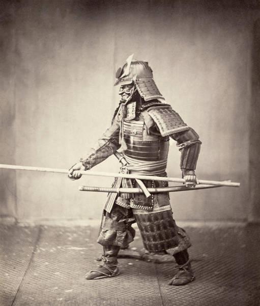 Wall Art - Photograph - Japan Samurai, C1863 by Granger