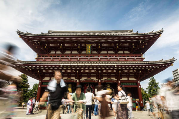 Photograph - Japan Temple Rush by Didier Marti