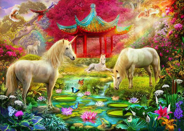 Castle Garden Photograph - Japan Unicorn by MGL Meiklejohn Graphics Licensing