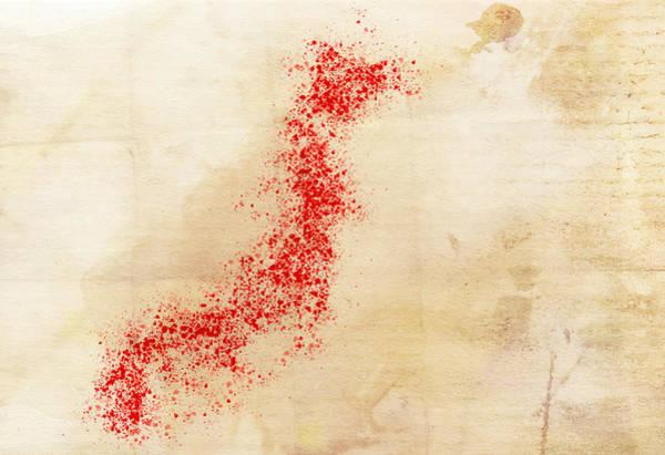 Wall Art - Digital Art - Japan Watercolor Map by Daniel Hagerman