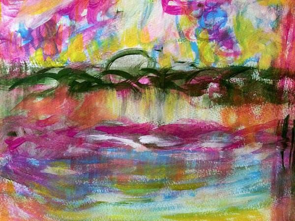 Painting - Japanese Bridge by Nikki Dalton