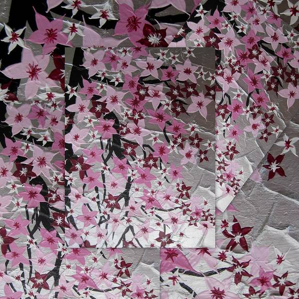 Cathy Painting - Japanese Cherry Blossoms by Cathy Jacobs