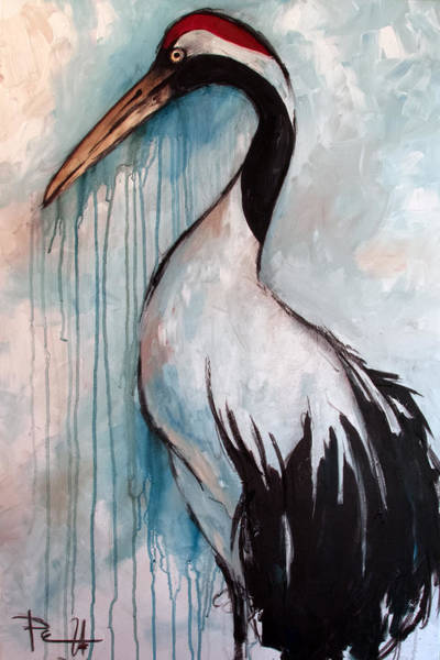 Painting - Japanese Crane by Sean Parnell