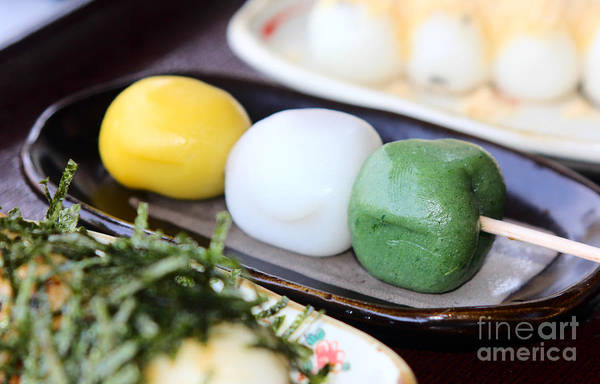 Photograph - Japanese Dango Or Dumplings On A Stick by Beverly Claire Kaiya